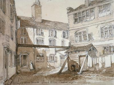 Alleyn's Almshouses, Gingerbread Court, Lamb Alley, City of London, 1851