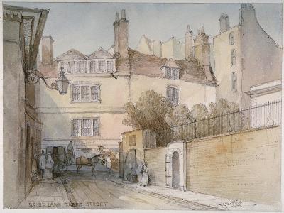 Bride Lane, City of London, 1851