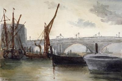 View of Blackfriars Bridge, with Boats in the Foreground, London, C1835