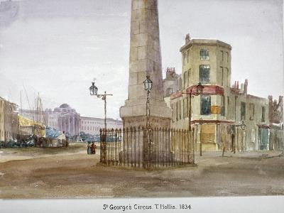 St George's Circus, Southwark, London, 1834