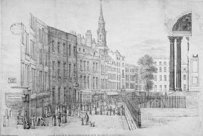 North Side of St Paul's Churchyard, with the End of Cheapside, City of London, 1822