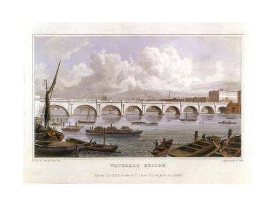 Waterloo Bridge, London, across the Thames, 1817