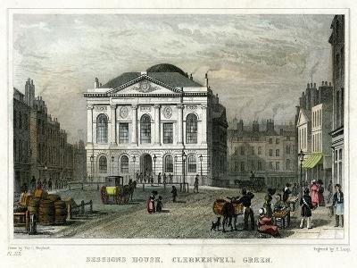 Sessions House, Clerkenwell Green, Islington, London, 1831