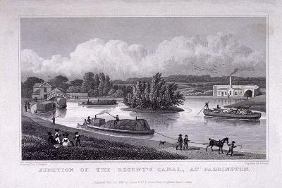 Regent's Canal, Paddington, London, 1828