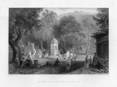A Market Scene and a Fountain in Antioch, Turkey, 1841