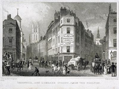 Cornhill, London, 1830