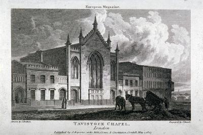 Tavistock Chapel, Tavistock Place, St Pancras, London, 1807