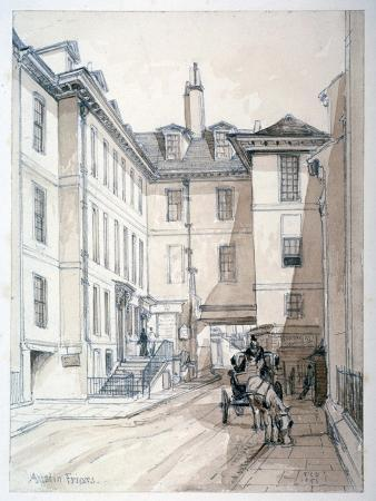Austin Friars Street, City of London, 1851