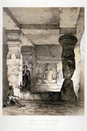 Kannari, Interior of a Small Vihara, India, 1845