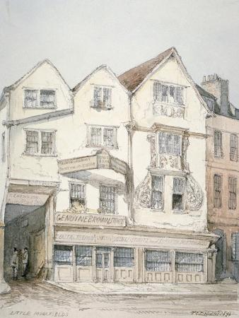 King's Arms Inn, Moorfields, with Decorative Moulding on the Front, City of London, 1851