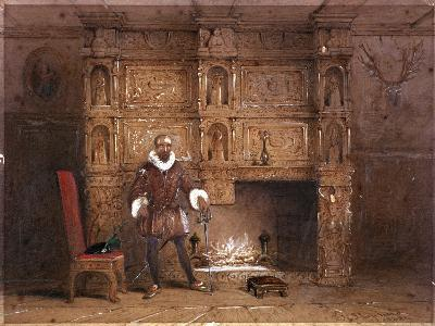 Possibly Sir John Spencer in Canonbury House; or Sir Walter Raleigh in the Old Pied Bull Inn, 1849