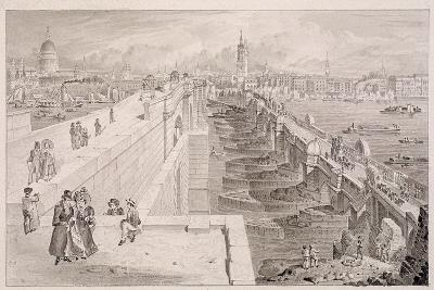 London Bridge (Old and New),London, 1831