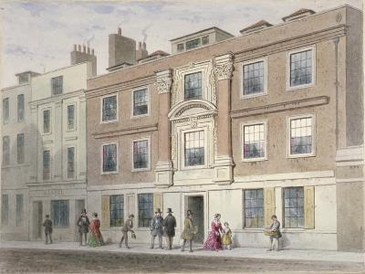 View of a Mansion in Great Winchester Street, City of London, 1841