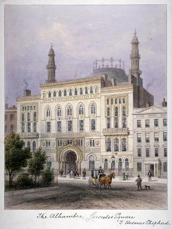 The Alhambra, Leicester Square, Westminster, London, C1858