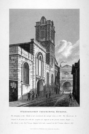 St Bartholomew-By-The-Exchange, City of London, 1811
