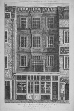 House Which Was Once the Residence of Jonathan Wild in Old Bailey, City of London, 1813