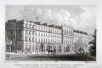Belgrave Square, Belgravia, London, 1828
