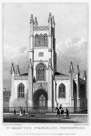Church of St Mark the Evangelist, Pentonville, Islington, London, 1828