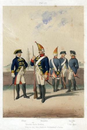 German Military Uniforms, 1740-1786