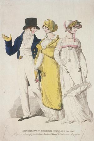 Kensington Garden Dresses for June, C1810