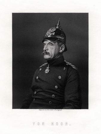 Albrecht Theodor Graf Emil Von Roon, Prussian Soldier and Politician, 19th Century