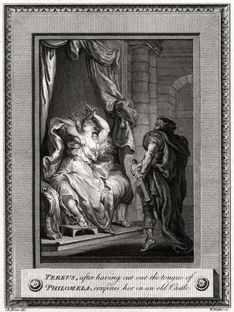 Tereus, after Having Cut the Tongue of Philomela, Confines Her in an Old Castle, 1776