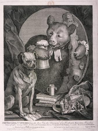 The Bruiser, C. Churchill ... in the Character of a Russian Hercules ..., 1763