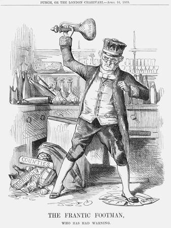 The Frantic Footman, Who Has Had Warning, 1859
