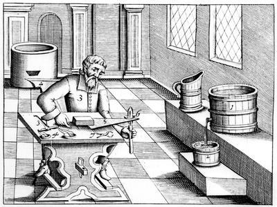 Checking the Quality of Saltpetre (Nitre, Potassium Nitrate, or Kn0), 1683