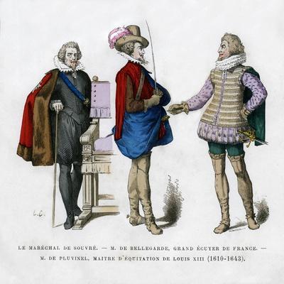 The Marshal of Souvre, M De Bellegarde and M De Pluvinel, 17th Century
