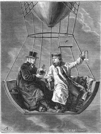 Jean Baptiste Biot and Joseph Louis Gay-Lussac, French Scientists, 1804