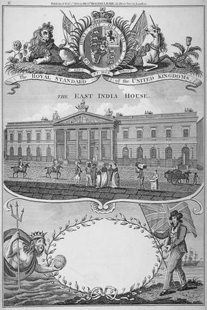 East India House, Leadenhall Street, City of London, 1821