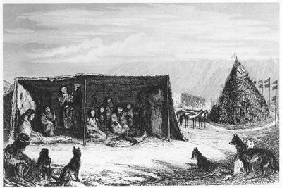 Patagonians in a 'Toldo' or Skin Tent, 1830