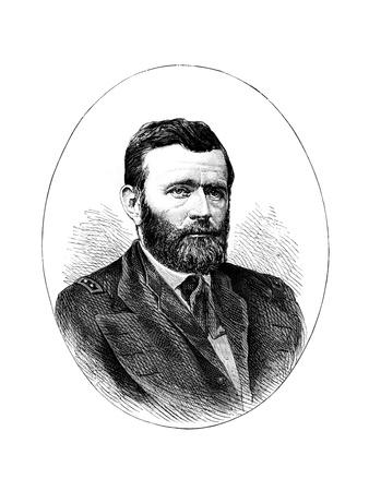 Ulysses S Grant, American General and 18th President of the United States