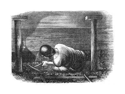 Coal Miner Working a Narrow Seam, C1864