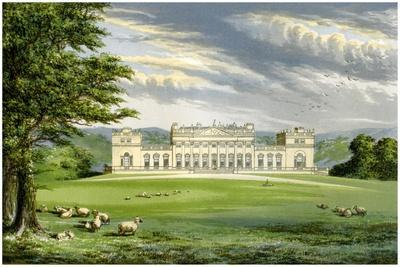 Harewood House, Yorkshire, Home of the Earl of Harewood, C1880