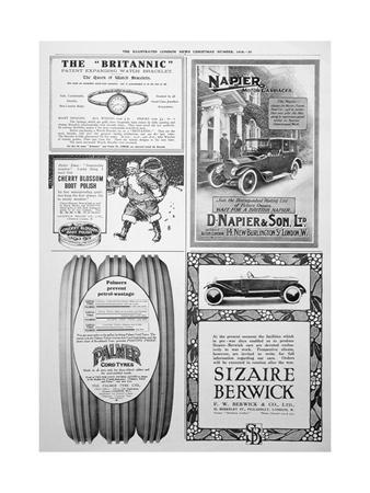 An Advertising Page in the Illustrated London News, Christmas, 1916