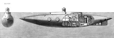 The Displacement Sinking and Rising Submarine Boat 'Nautilus', 1887