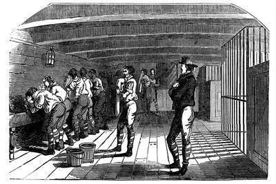 On Board a Prison Hulk, 1848