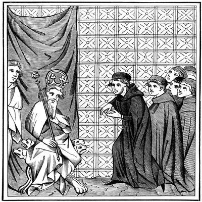 Fellows of the University of Paris Haranguing the Emperor Charles IV (1316-137) in 1377