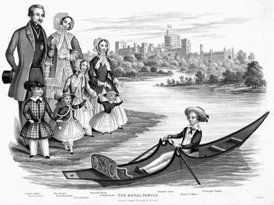 Queen Victoria and Prince Albert with their Six Eldest Children, C1850