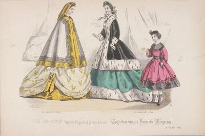 Two Women and a Child Wearing the Latest Fashions, 1864
