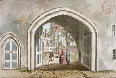 Entrance to Croydon Palace, Croydon, Surrey, C1800