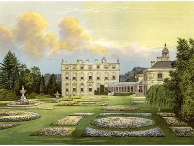 Dytchley House, Oxfordshire, Home of Viscount Dillon, C1880