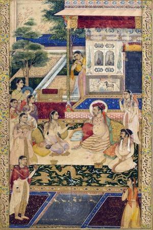 Jahangir and Prince Khurram with Nur Jahan, C1624-1625