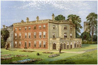 Clifton Hall, Nottinghamshire, Home of Baronet Clifton, C1880