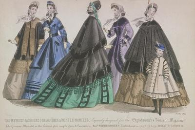 Five Women and a Child Wearing the Latest Autumn and Winter Fashions, 1864