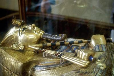 Gold Sarcophagus of King Tutankamun, 18th Dynasty, Ancient Egypt, C1323 Bc
