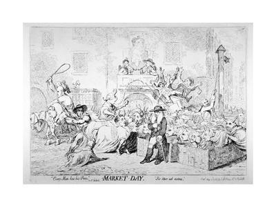 Every Man Has His Price - Sir Rt Walpole, Market Day, Sic Itur Ad Astra, 1788