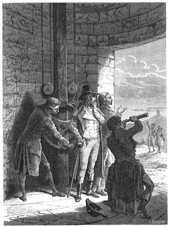 Claude Chappe Demonstrating His Optical Telegraph (Semaphor) System in 1793